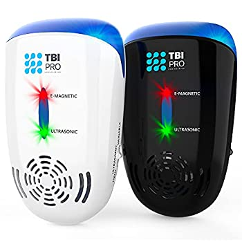 TBI Pro Ultrasonic Pest Repeller Wall Plug-in - Electromagnetic and Ionic Indoor Repellent Anti Mouse Rats Roach Ants Mosquito Cockroach Control - Safe and Quiet Electronic Device  2