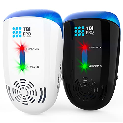 TBI Pro Ultrasonic Pest Repeller Wall Plug-in - Electromagnetic and Ionic Indoor Repellent Anti Mouse, Rats, Roach, Ants, Mosquito, Cockroach Control - Safe and Quiet Electronic Device (2)