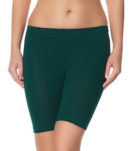 Ladeheid Damen Shorts Radlerhose Unterhose Hotpants Kurze Hose Boxershorts LAMA04 (Dunkelgrün2, L/XL)