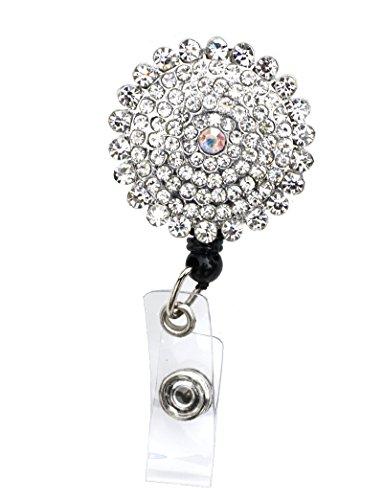 Diamond Sun Rhinestone Retractable Badge Reel/ID Badge Holder