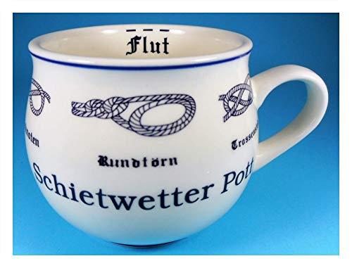 MUG Schietwetter Pott Tasse 9 x 10 cm Ebbe Flut Knoten Becher Kaffeetasse Kaffeebecher Deko GPT 85104