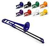 pInstrument Plastic pBone Trombone - Mouthpieces and Carrying Bag - Lightweight Versatile, Comfortable Ergonomic Grip - Bb Authentic Sound for Student & Beginner - Durable ABS Construction - Blue