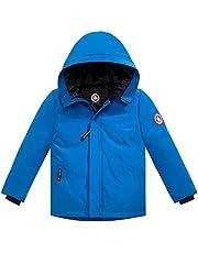 CXYP キッズ ダウンコート ダウン90 ジャケット ファー フード付き 男の子 女の子 ショート丈 防寒 防風 アウター おしゃれ