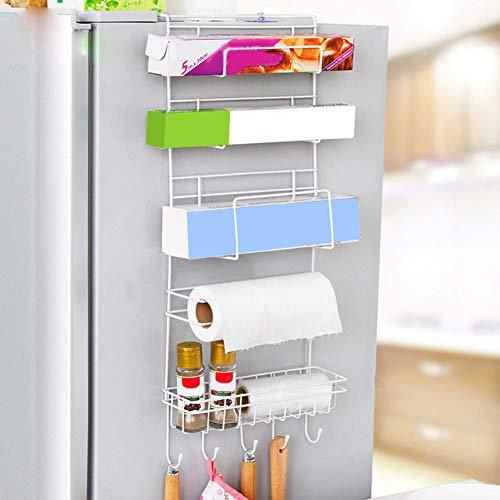 Hängeregal für die Seitenwand des Kühlschrank, multifunktional, Küchenzubehör, Organizer für Haushalt, mehrere Ablagen