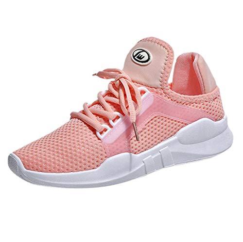 ZIYOU Bowling-Schuhe für Damen und Kinder Lässige Atmungsaktive Turnschuhe Sport Laufschuhe Outdoor Fitness Sneaker (Rosa,35 EU)