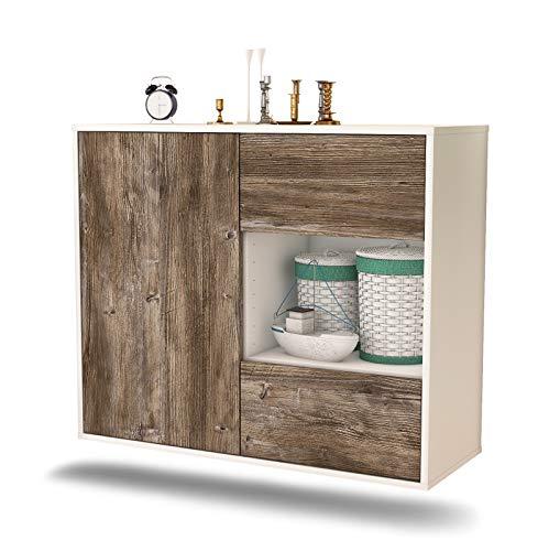 Dekati dressoir Brownsville hangend (92 x 77 x 35 cm) romp wit mat | front houten design | Push-to-Open modern drijfhout.