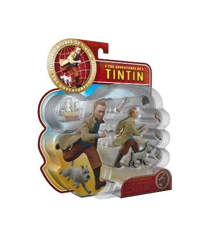 Adventures of Tintin with Snowy Report Set Figures