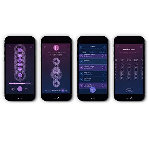 MysteryVibe Crescendo: Der Fortgeschrittenste Vibrator Der Welt Anpassbar, Biegsam, Flexibel, Drahtlos Ladbar, 100 Wasserdicht, Smart, Freie Hände, 6Motoren, App-gesteuert, Körpermassage. Lila