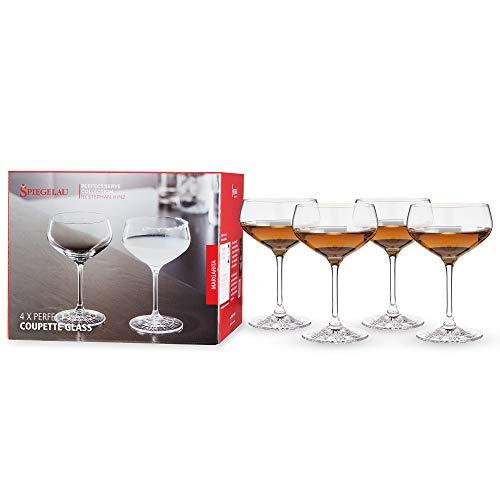 Spiegelau & Nachtmann, 4-teiliges Cocktailschalen-Set, Champagnerschale/Coupette Glas, Kristallglas, 235 ml, Perfect Serve, 4500174