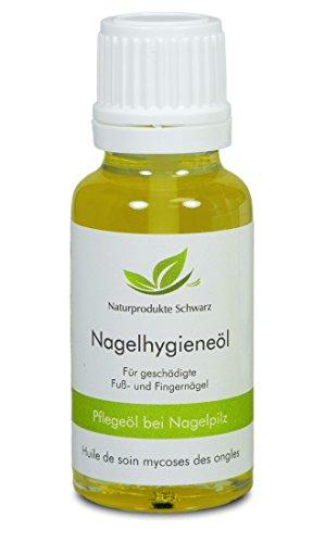 Naturprodukte Schwarz - Nagelpilz Öl - Mit Premium Teebaumöl zur Pflege bei Nagelpilz, 10ml