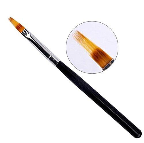 1 Ombre Pinsel, schwarz, Babyboomer - Pinsel, Verlaufpinsel, Kammpinsel, Nailartpinsel