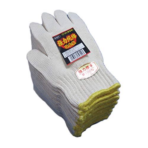 327【高品質快適】厚くて丈夫な純綿軍手 綿100%日本製12双 厚地の生地で高温の作業でも。