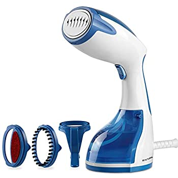 BEAUTURAL Steamer for Clothes with Pump Steam Technology Portable Handheld Garment Fabric Wrinkles Remover 30s Fast Heat-up Auto-Off Large Detachable Water Tank