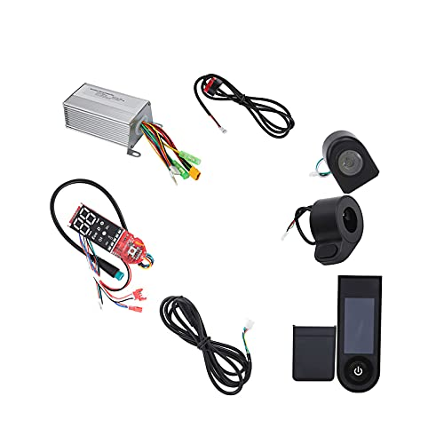 MKNIUA for Xiaomi M365 Electric Scooter 36V 350W Complete Combination Scooter Kit Electric Controller Bluetooth Board Accelerator Front Light Tail Light Handbrake 8 Pieces