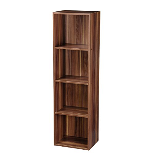 Top Marques Collectibles Bücherregal Taylor & Brown® aus Holz mit 1, 2, 3, 4 Ablagen Modern 4 Ablagefächer braun