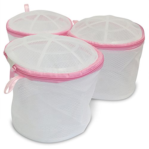 3-Pack of Premium Bra Wash Bags for Delicates - Double-Wall Protection Laundry Bags are Best for Protecting Delicates, Lingerie, and Socks