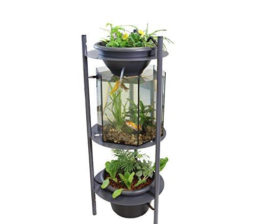 Urbanleaf Acuario acuaponia SYMBIUM 120, jardín de interior, fácil,