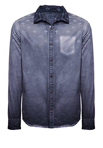khujo Herren Shirt Sigma 2444SH153_460 460DK-NAVY, XL