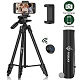 Best Tripods - Lightweight Tripod 55-Inch, Travel/Video/Phone/Camera Tripod Stand with Bluetooth Review