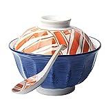 CHUTD Cuencos de Sopa con Tapa y Cuchara, Cuenco de cerámica para Fideos instantáneos, Cuenco de Ramen asiático, Apto para microondas y lavavajillas, para ensaladas de Sopa, Pasta y Cereales