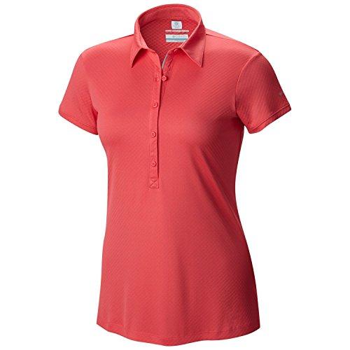 Columbia Femme Zero Règles II Polo T-Shirt pour Homme Rose Bright Geranium Petit