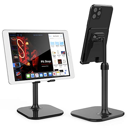 Cell Phone Stand,Doboli Phone Stand for Desk,Phone Holder Stand Compatible with iPhone and All Mobile Phones Tablet Black