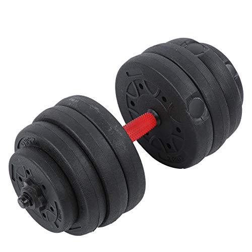 Aynefy - Mancuernas de ejercicio ajustables (20 kg, 8 pesas de 1 kg, 2,5 kg, 3 kg, antideslizantes, con biela