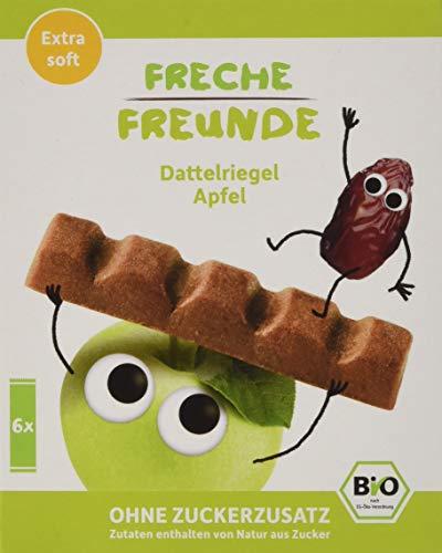 Freche Freunde Bio Dattelriegel Apfel für Kinder, ohne Zuckerzusatz, extra softer Fruchtriegel mit Dattel, vegan, 6x (6x17g)