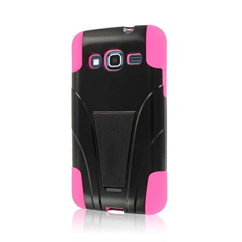 MPERO Impact X Series Kickstand Hülle Tasche Hülle for Samsung ATIV S Neo I800 I8675 - Hot Pink Rosa