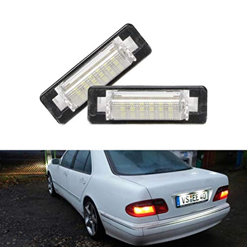 MOLEAQI 2pcs Car Rear Led Number License Plate Light For M-ercedes B-enz W210 E300 E320 E420 W202 4D C230 C280 C43 AMG White Led Lamp