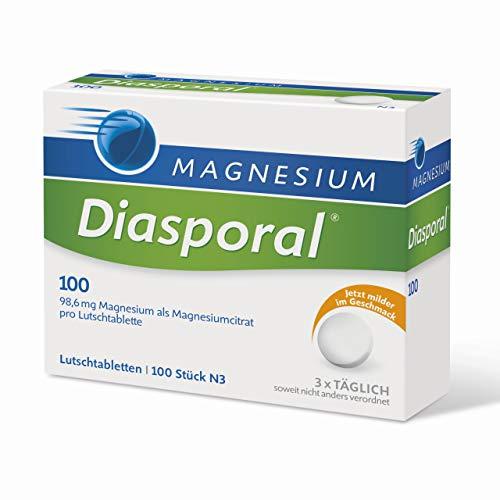 Magnesium-Diasporal 100, Lutschtabletten, gegen Verspannungen durch Magnesiummangel, 100 mg Magnesium pro Tablette, 100 Stück