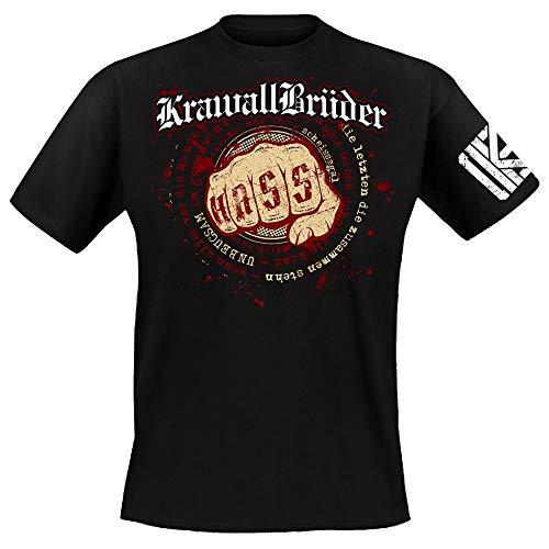 Krawallbrüder - Unbeugsam, T-Shirt [schwarz] Größe S