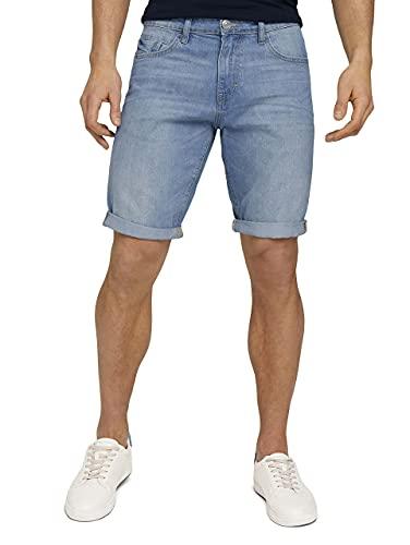 TOM TAILOR Herren 1025042 Josh Denim Bermuda Shorts, 10280-Light Stone Wash, 34