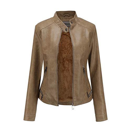 XZYP dames imitatieleer opstaande kraag Moto Biker korte jas, bijgesneden jas, multi-kleur optioneel