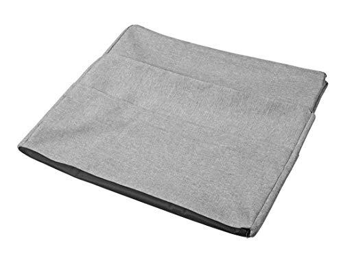 Traumnacht Husse für die Gästematratze de Luxe mit praktischen Seitentaschen und separate Husse, 75 x 195 cm, hellgrau