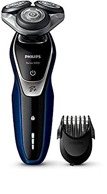 Philips Series 5000 S5572/40 Wet and Dry Men's Electric Shaver with Turbo Plus Mode and Beard Trimmer by Philips