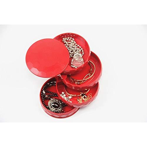 N / A Caja de joyería nórdica multifunción Caja de cosméticos Creativa Caja de Collar Anillo Caja de Almacenamiento de Joyas 10x10x10CM