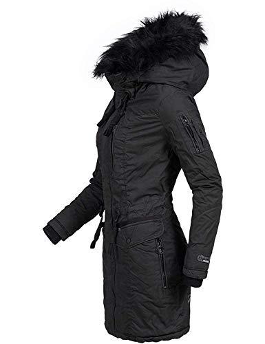 Khujo Mujer Abrigo de Invierno algodón Parka ym-anastina 5 Colores XS-XXL - carbón, M