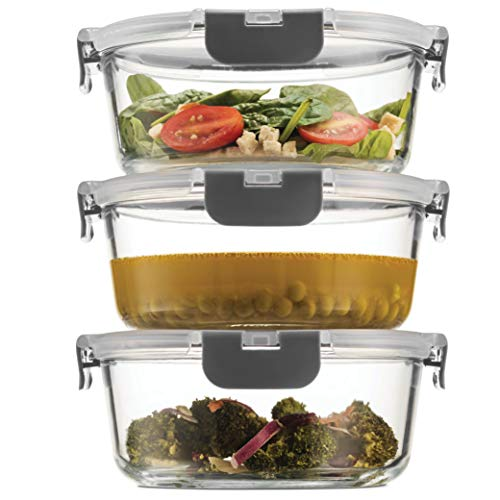 Superior Glass Meal-Prep Containers - 3-pack (35oz)