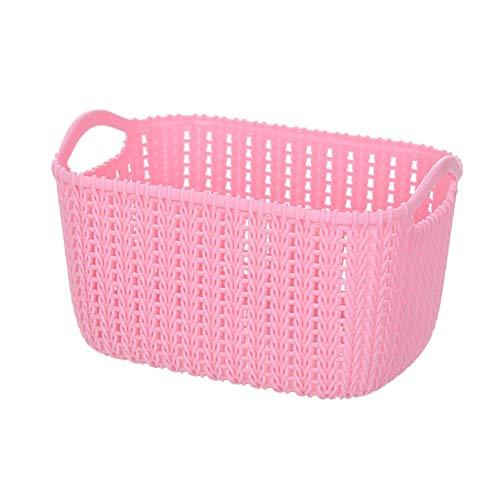 zhppac small hamper baskets empty storage baskets small basket basket storage small wicker basket baskets for storage desk storage small storage basket pink