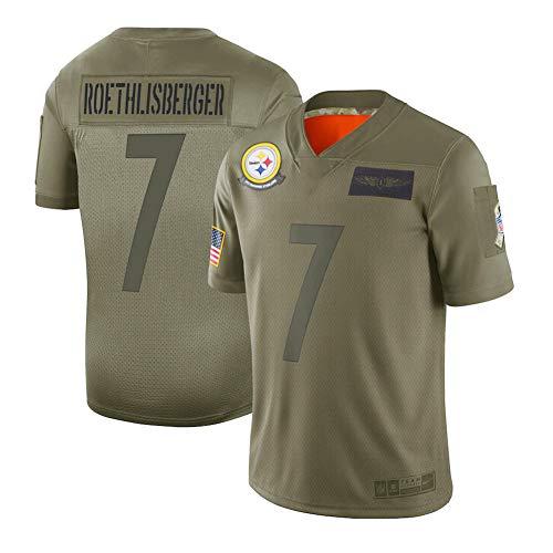 Pittsburgh Steelers Ben Roethlisberger Olive 2019 Tribute Limited Edition Jersey, Männer Supporter Jersey Wettbewerb Trainings-Uniform der Männer Gift (s-3xl) Player Jersey-M