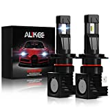 Aukee H7 LED Headlights, 12000Lm 6000K 60W Bulb Extremely Bright All-in-One Conversion Kit
