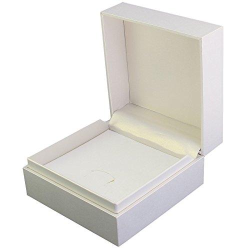 Schmuck Etui mittelgroß perlmutt 9x9 cm für Ringe Ohrschmuck Ketten Anhänger und Armband