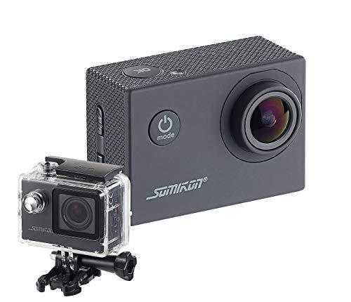 Somikon Action Camera: Einsteiger-4K-Action-Cam, WLAN Full HD (60 fps) mit Unterwassergehäuse (Motorrad Kamera)