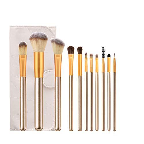 LJTJX Pinceau À Maquillage 11 Pcs Outil Ensemble Maquillage Poudre Fard À Paupières Fondation Blush Mix Beauté Maquillage Pinceau