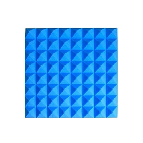 Anti-lawaai familie akoestische platen vochtbestendig brandbescherming geluidsabsorberend katoen inklapbare eenvoudige Acoustic Panelen 20 stuks geïnstalleerde huishoudelijke producten (kleur: blauw)