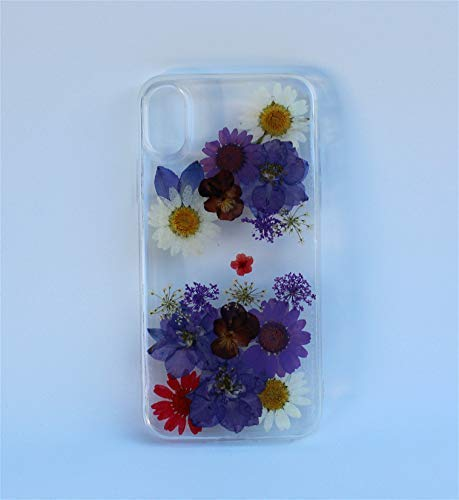 Samsung Galaxy S20, S10, S10 Edge, S10 Plus, S9, S9 Plus, S8, S8 Plus Flower Phone Case - Pressed Dried Flowers Blossom Galaxy Note 10, Note 10+, Samsung A50, A51, A10E Floral Soft Silicone Case