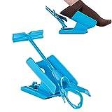 CIVIKY Sock Aid Easy On/Easy Off - calzador de calcetín multifunción I ayuda para ponerse y sacarse los calcetines,Kit deslizante de ayuda calcetines ponerse y quitarse los calcetines-Azul