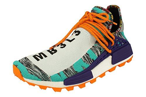 Adidas Pharrell Williams Solar HU NMD Hombre Trainers Sneakers (UK 10 US 10.5 EU 44 2/3, Aqua Core Black Purple BB9528)