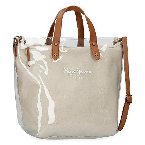 Pepe Jeans 7057321, Bolso Shopper Mujeres, Marrón, Media